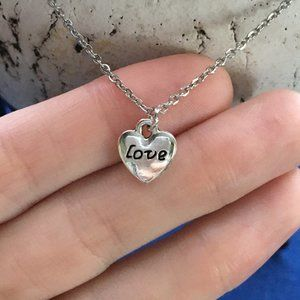 ❤️ Love Heart Necklace Tibetan Silver ❤️ 4for$20